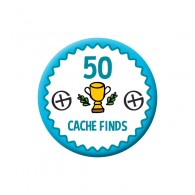 Badge Geocaching - 50 Finds