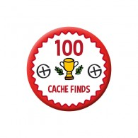 Badge Geocaching - 100 Finds