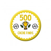 Badge Geocaching - 500 Finds