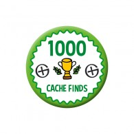 Badge Geocaching - 1000 Finds
