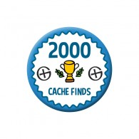 Badge Geocaching - 2000 Finds