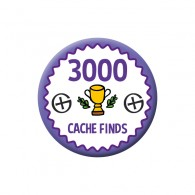 Badge Geocaching - 3000 Finds