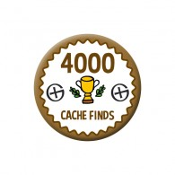 Badge Geocaching - 4000 Finds