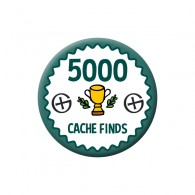 Badge Geocaching - 5000 Finds