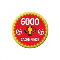 Badge Geocaching - 6000 Finds