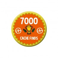 Badge Geocaching - 7000 Finds