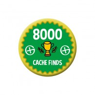 Badge Geocaching - 8000 Finds