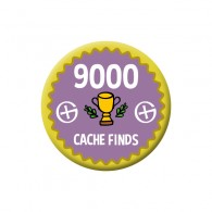Badge Geocaching - 9000 Finds