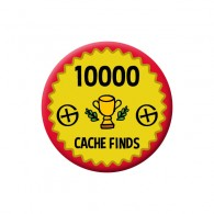 Badge Geocaching - 10000 Finds