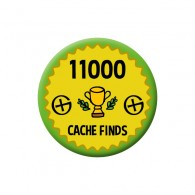 Badge Geocaching - 11000 Finds