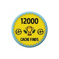 Badge Geocaching - 12000 Finds