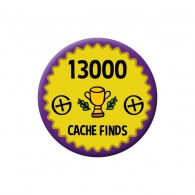 Badge Geocaching - 13000 Finds