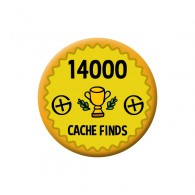 Badge Geocaching - 14000 Finds