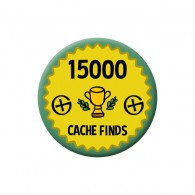 Badge Geocaching - 15000 Finds