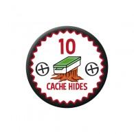 Badge Geocaching - 10 Hides