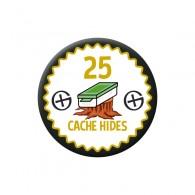 Badge Geocaching - 25 Hides