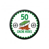 Badge Geocaching - 50 Hides