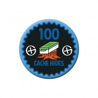 Badge Geocaching - 100 Hides