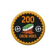 Badge Geocaching - 200 Hides