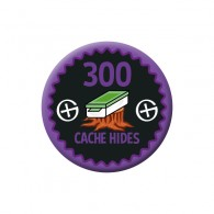 Badge Geocaching - 300 Hides