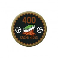 Badge Geocaching - 400 Hides