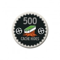 Badge Geocaching - 500 Hides