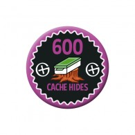 Badge Geocaching - 600 Hides