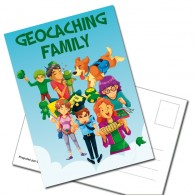 "Carte Postale ""Geocaching Family"""