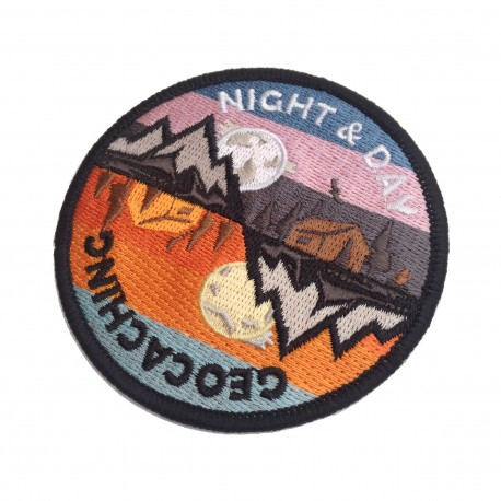 "Patch Geocaching ""Night & Day"""