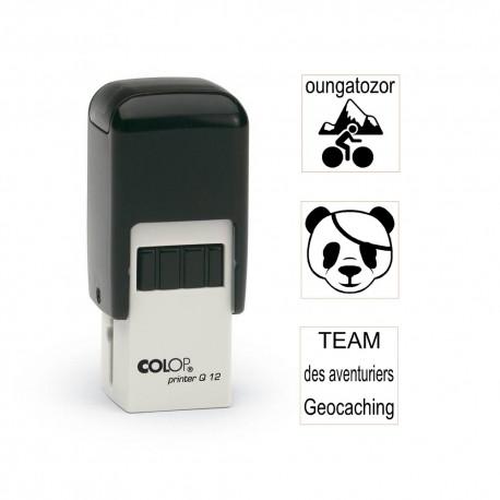 Tampon carré 12mm - Colop Printer Q12 Noir