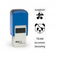 Tampon carré 12mm - Colop Printer Q12 Bleu