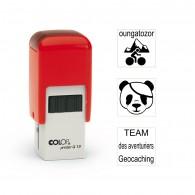 Tampon carré 12mm - Colop Printer Q12 Rouge