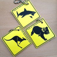 Friends on the road AUSTRALIA Set - 3 Travel Tags