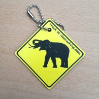 Friends on the road Travel Tag - Elephant