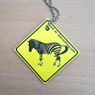 Friends on the road Travel Tag - Zebra
