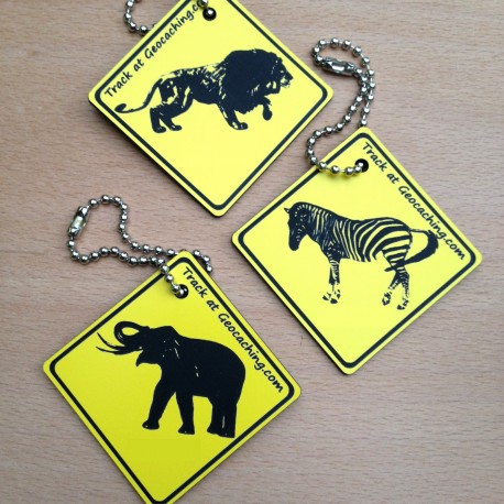 Friends on the road AFRICA Set - 3 Travel Tags