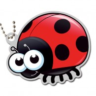 Little Garden Creature Travel Tag - Coccinelle (LADYBUG)