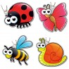 Little Garden Creatures Set - 4 Travel Tags