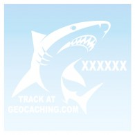 Requin pour véhicule - Blanc Decal