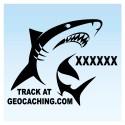 Requin pour véhicule - Noir Decal