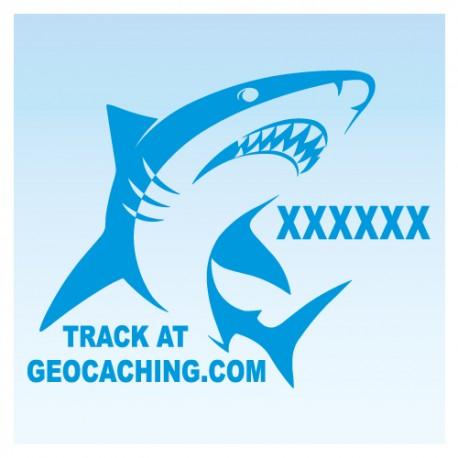 Requin pour véhicule - Bleu Decal