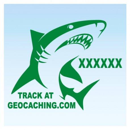 Requin pour véhicule - Vert Decal