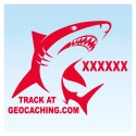 Requin pour véhicule - Rouge Decal