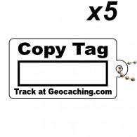 Copy Tag Noir x5 - Tag de remplacement pour traçables