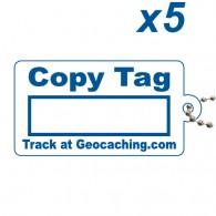 Copy Tag Bleu x5 - Tag de remplacement pour traçables