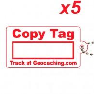 Copy Tag Rouge x5 - Tag de remplacement pour traçables