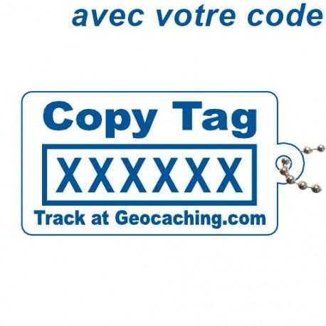 Copy Tag Bleu - Avec votre code