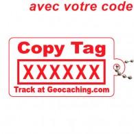 Copy Tag Rouge - Avec votre code