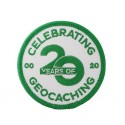Celebrating 20 Years of Geocaching Patch