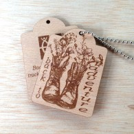 Back to adventure Wooden Tag
